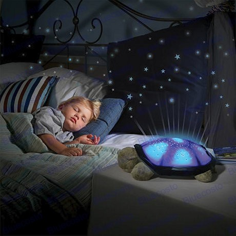 Kid room sea turtle projector constellation night light star twilight lamp toy ebay for Michal turtle music from the living room