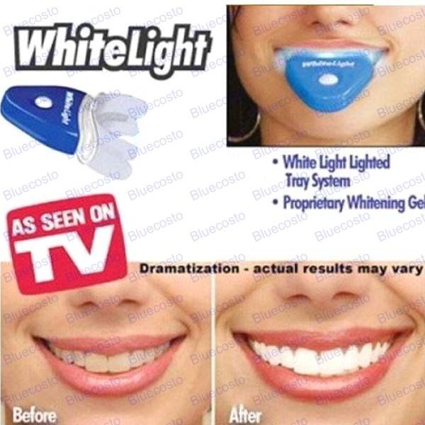 white light teeth tooth cleaner dental oral care whitening system kit. Black Bedroom Furniture Sets. Home Design Ideas