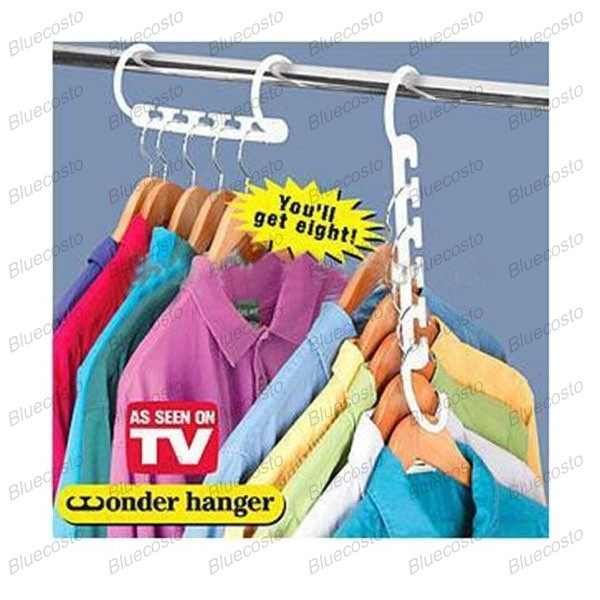 3 X Space Saver Saving Wonder Magic Hanger Clothes Closet Organize Hook