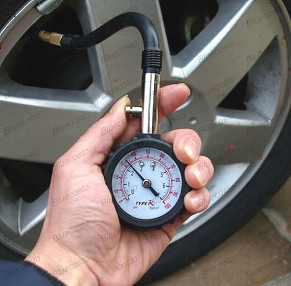 auto vehicle car tyre tire air pressure gauge 0 100 psi dial meter tester ebay. Black Bedroom Furniture Sets. Home Design Ideas