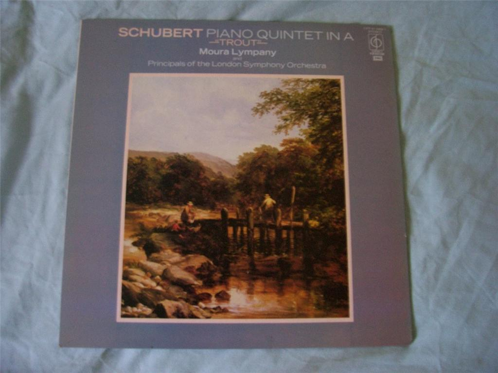 MOURA LYMPANY / PRINCIPALS OF LONDON SYMPHONY ORCH - Schubert Piano Quintet in A ''Trout'' - LP