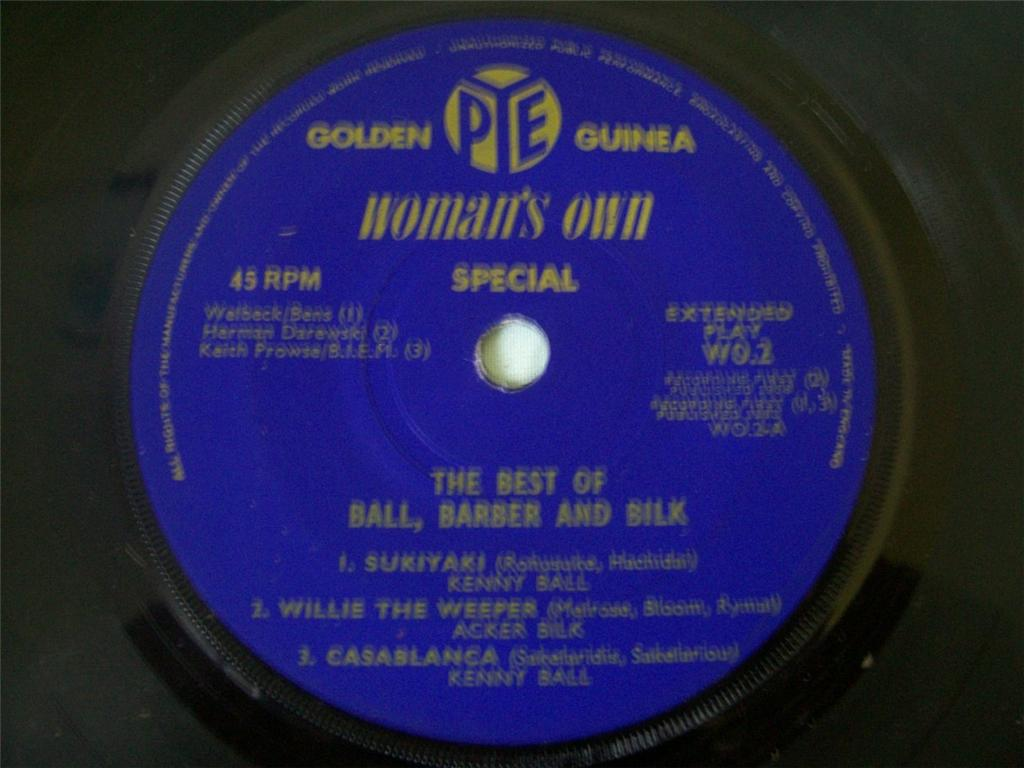 KENNY BALL / CHRIS BARBER / ACKER BILK - The Best of Ball Barber and Bilk - 45T (SP 2 titres)