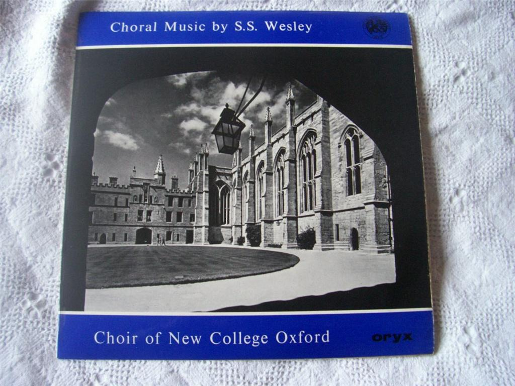 Choral Music By S S Wesley