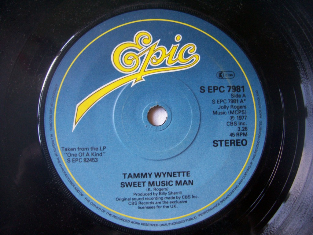 TAMMY WYNETTE - Sweet Music Man - 7inch (SP)