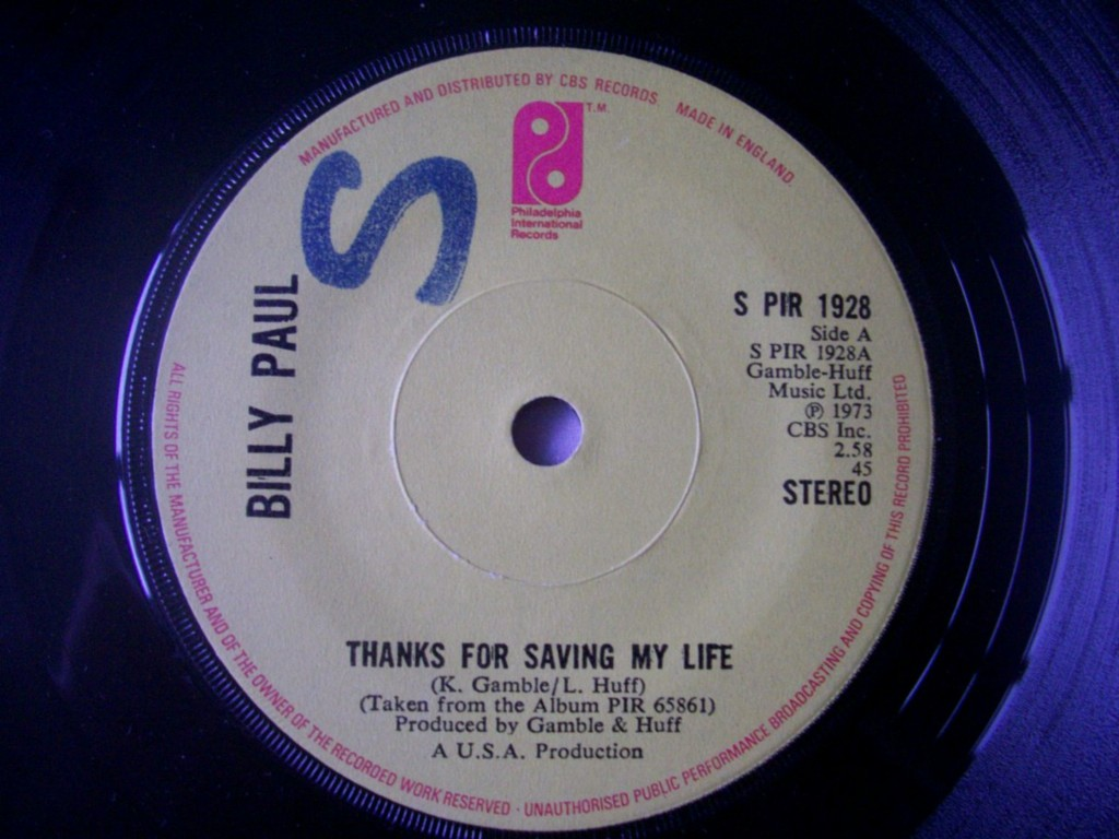 Billy Paul - Thanks For Saving My Life Album