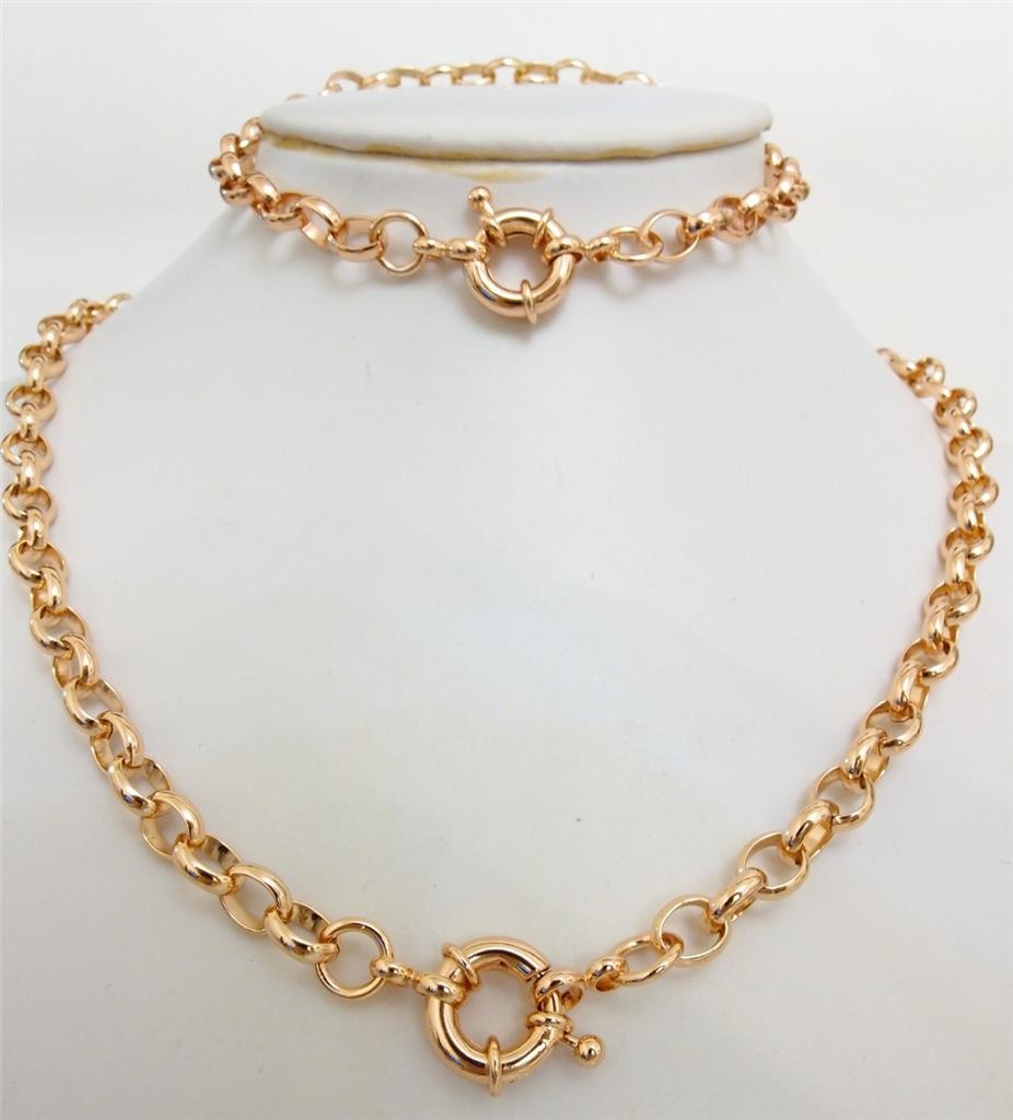 Fashion Jewellery 14k Rose gold Filled Chic Belcher Necklace