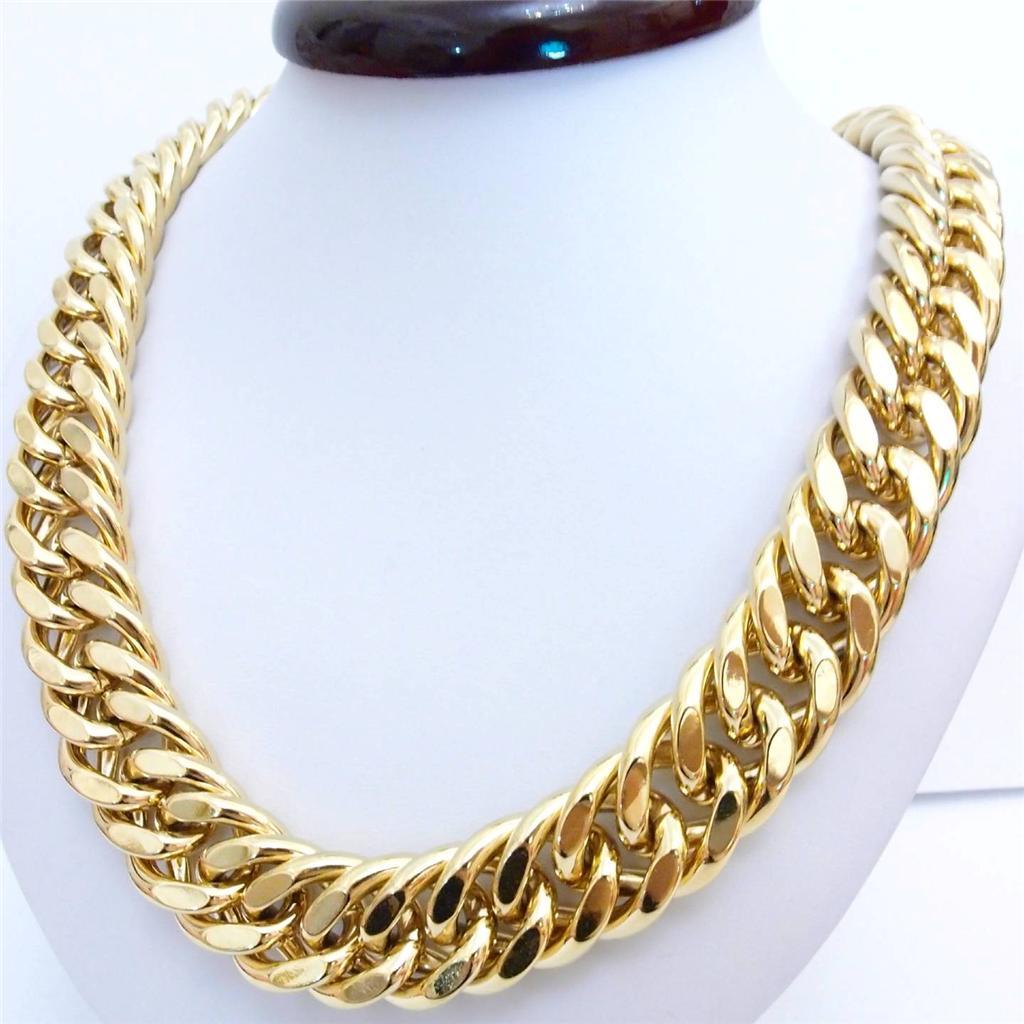 Men's Jewelry 20mm Wide 18k Yellow Gold Filled Chain Link. Purple Sapphire. Rust Wedding Rings. Peace Rings. Marquise Rings. Womens Banglesmardi Gras Beads. Wooden Bead Bracelet. Orange Rings. Lady Bangles