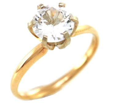 3 37ct real white sapphire solitaire 14k 14kt solid white