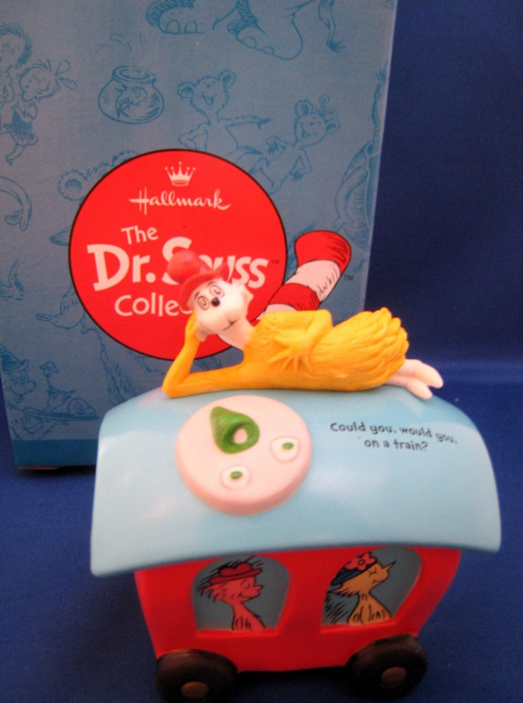 Details about Dr. Seuss ON A TRAIN? Green Eggs & Ham by Hallmark