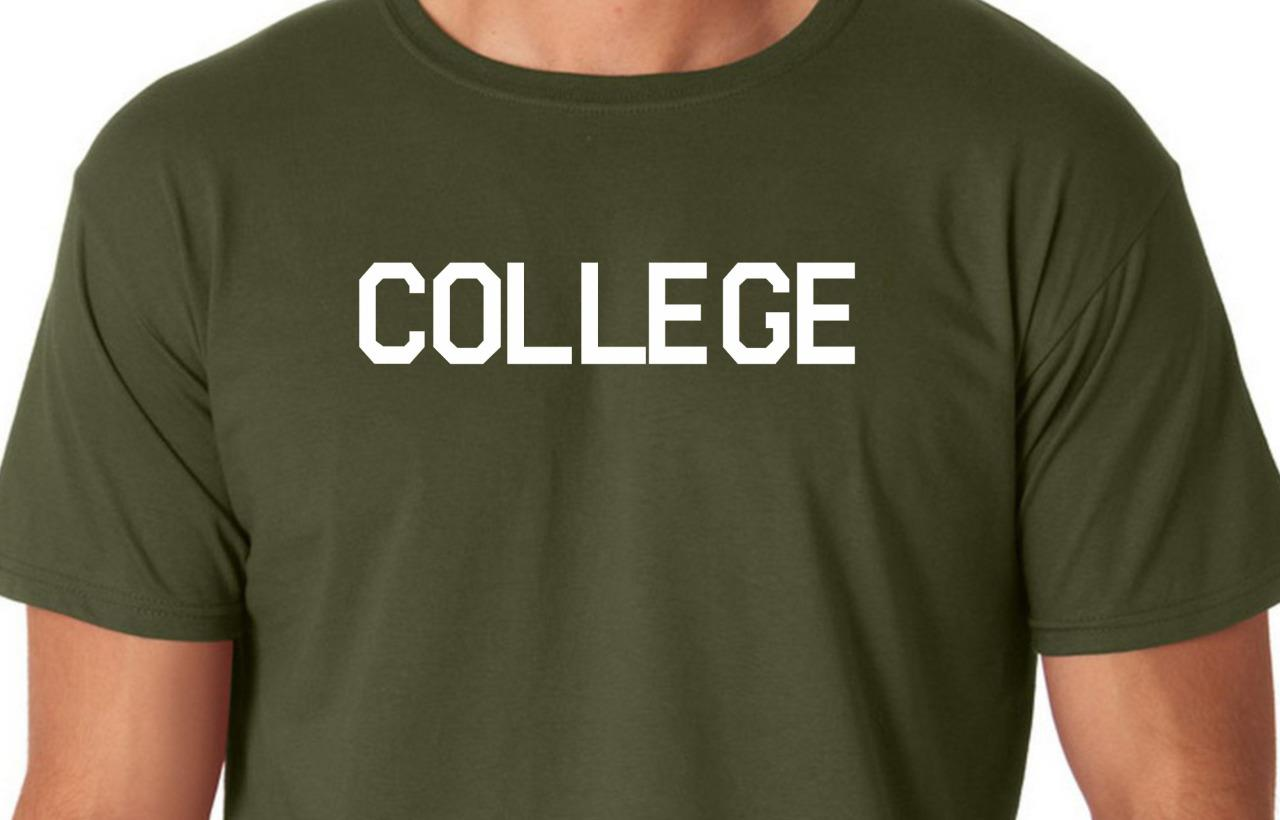 COLLEGE Tee Shirt Funny Humor Animal House Party Nerd ...