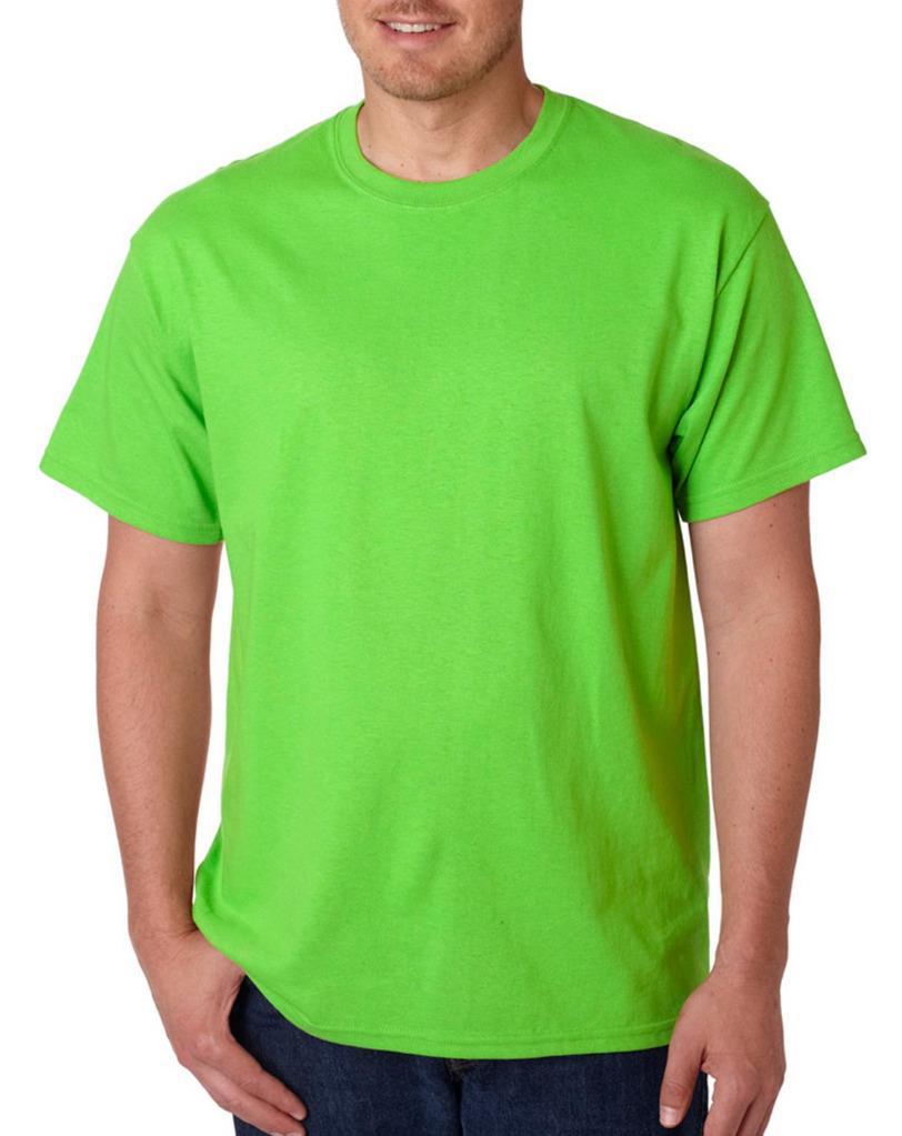 Gildan mens plain t shirts solid cotton short sleeve blank for Mens 3xl t shirts