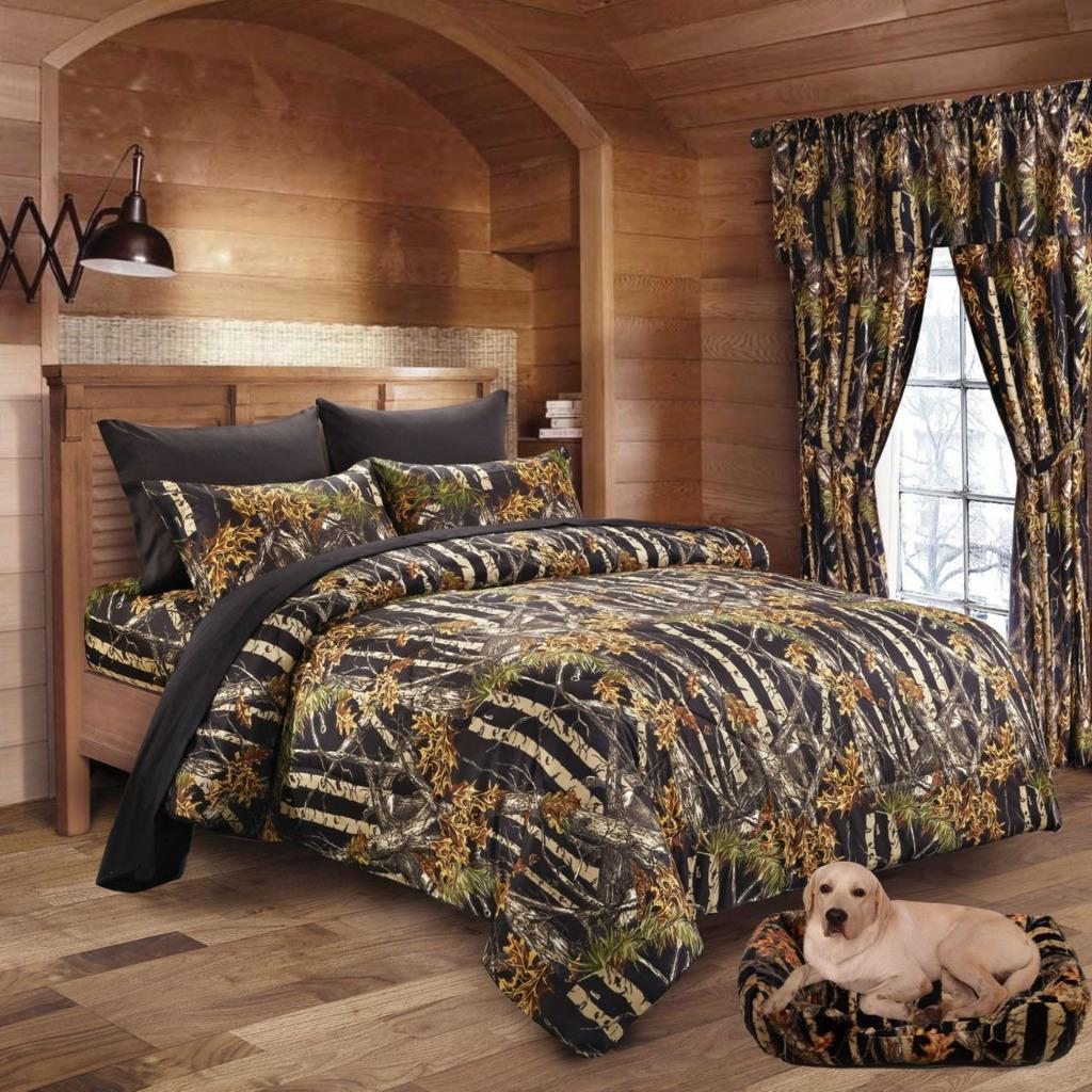 Twin Queen King Camo 13pc forter Bed Set Camouflage