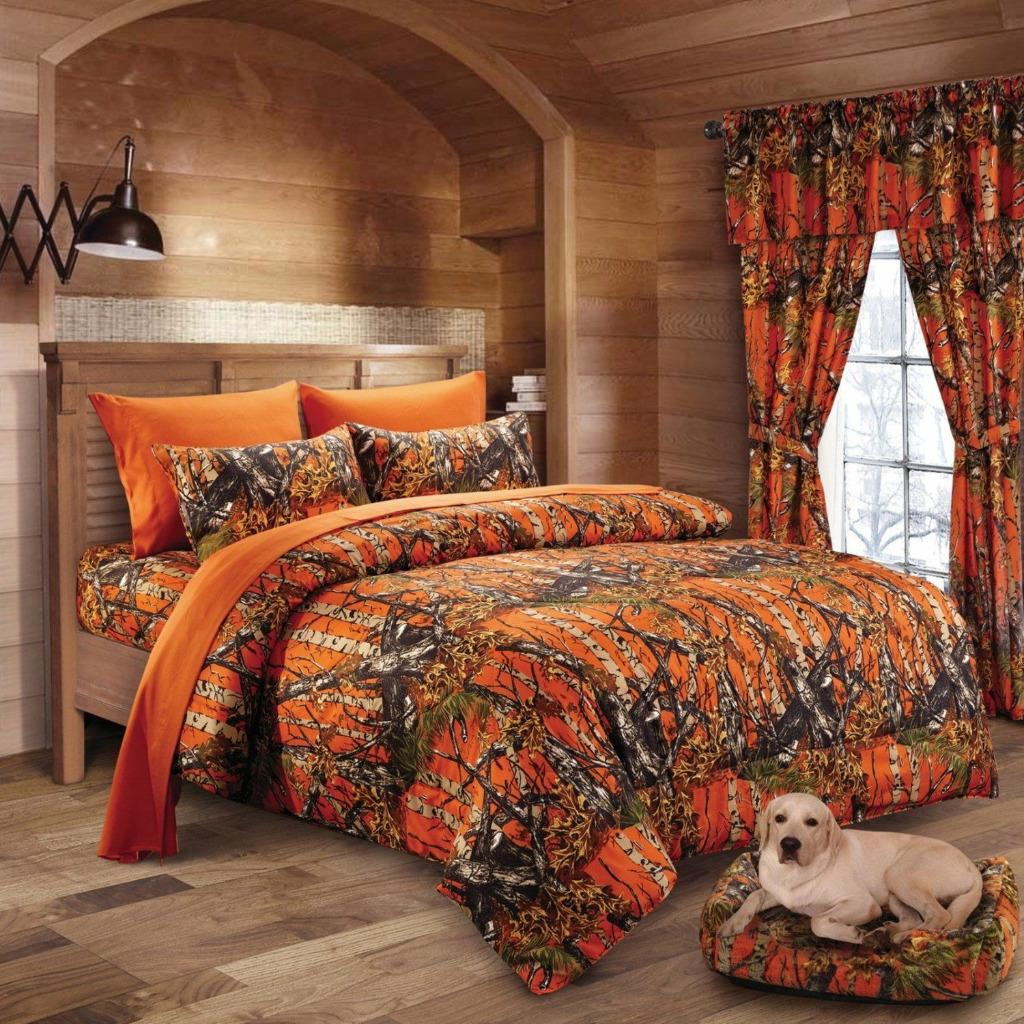 Twin Queen King Camo 13pc Comforter Bed Set Camouflage Hunter Curtains Sheets Ebay