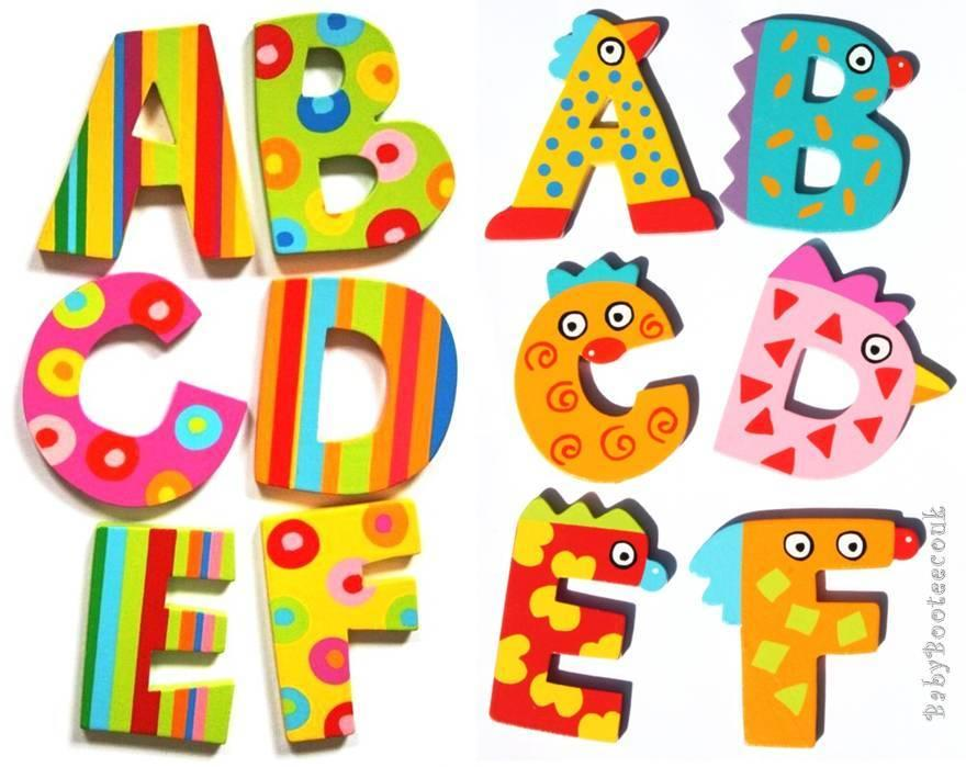 Tatiri wooden alphabet letters spots amp stripes crazy bird door new