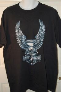 Harley Davidson XL Mens Shirt X Large Black Tee CHROME