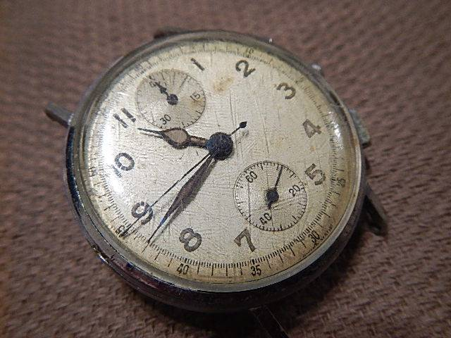 VENUS-170-Chronograph-Mens-Watch-Vintage-1950-1960-Similar-to-Breitling