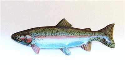 Rainbow trout fish hat pin free fish hook hat pin ebay for Fishing hat pins