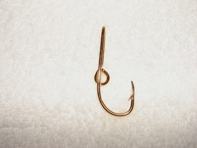 Chrome silver colored fish hook hat pin or tie clip ebay for Fishing hook hat clip