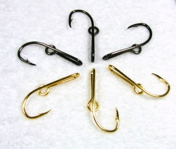 1 gun metal colored fish hook hat pins or tie clips for Fishing hook hat clip