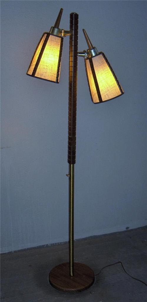 vintage mid century modern pole teak floor lamp 60s danish. Black Bedroom Furniture Sets. Home Design Ideas