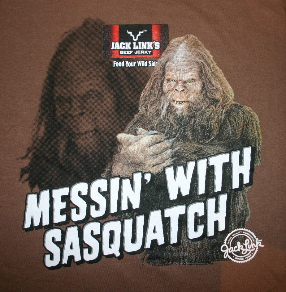 Jack Link's Stock http://www.ebay.com/itm/Jack-Links-Messin-with-Sasquatch-Wild-SideT-Shirt-NEW-/230573062213