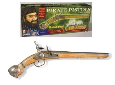 AUTHENTIC PIRATE PISTOLS PLASTIC MODEL KIT FLINTLOCK ...