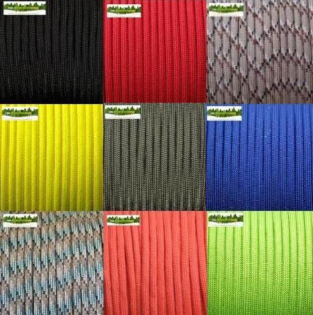 3mm-PARACORD-PET-7-STRAND-CORE-100-Feet-30m-Many-Colours-Available