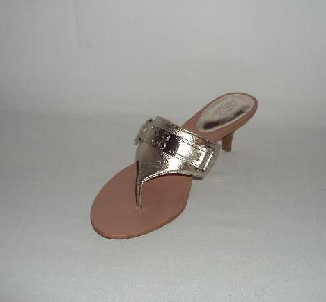 Coach-Womens-A3218-Alberta-Metallic-Thong-Sandals-Shoes-Gold-Leather-Heel