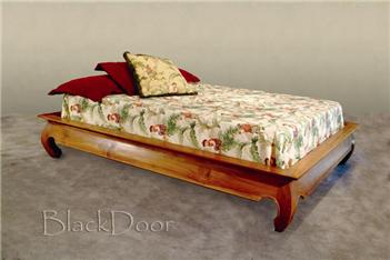 Bed style teak platform Asian
