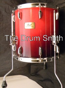 Pearl session custom smx1414f291 cranberry fade 14x14 for 14x14 floor tom