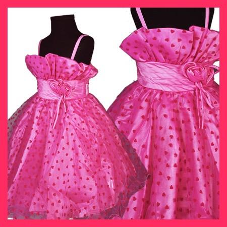 r076 rosa blumenm dchen kleid hochzeit festkleider kleid. Black Bedroom Furniture Sets. Home Design Ideas