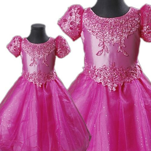 KD160 Baby Flower Girls Rose RED Dress Wedding Party Dress eBay