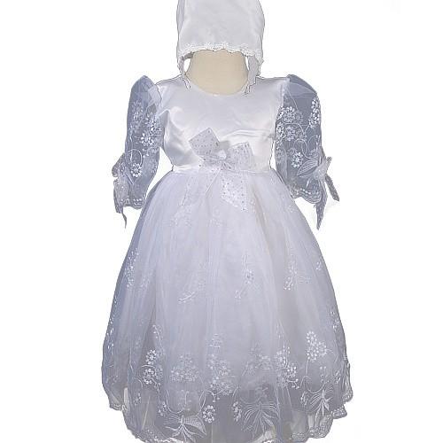 d276 2tlg baby m dchen taufkleid tauf kleid festkleid kleider mit hut ebay. Black Bedroom Furniture Sets. Home Design Ideas