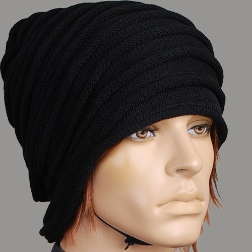 KH2000M-Mode-Schwarz-Ski-Manner-Beanie-Hut-Wintermutze-Kappe-Mutze