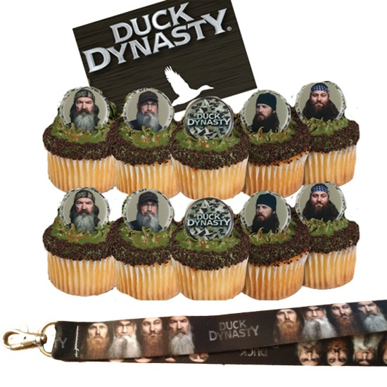 Duck Dynasty Cupcake Toppers Duck dynasty cupcake rings & 1