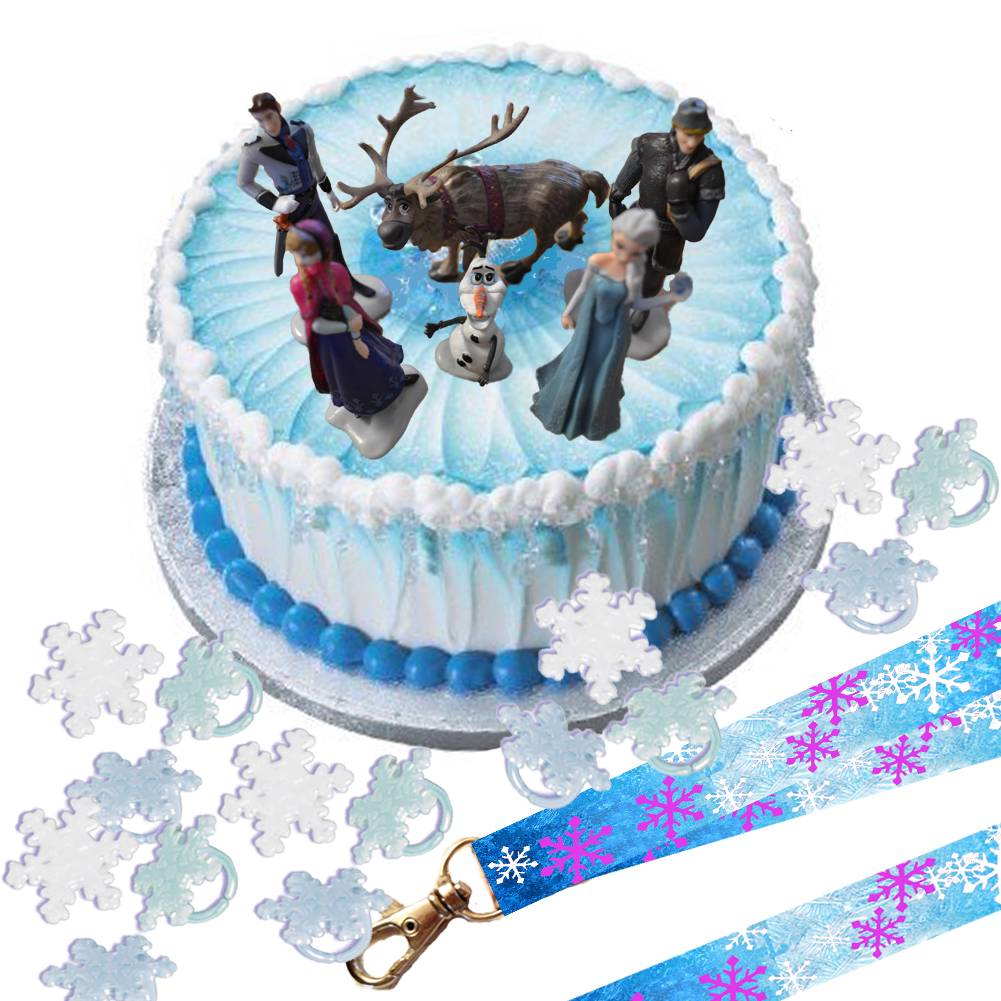 Details about Disney Frozen Cake Topper Set & Cupcake Rings & Party ...