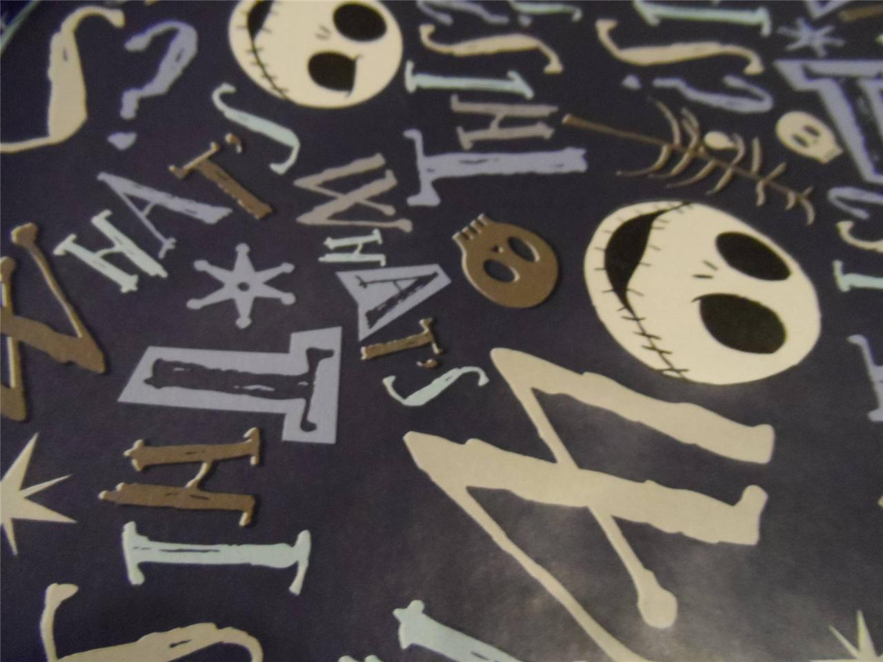 Details about WRAPPING PAPER NIGHTMARE BEFORE CHRISTMAS 3.33FT x 4FT ...