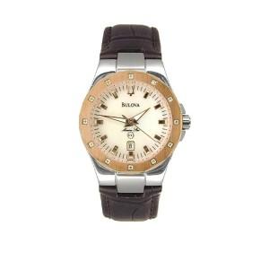 Bulova Womens 98R93 Diamond Marine Star Watch