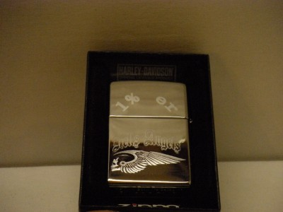 hells angels engraved zippo harley davidson lighter