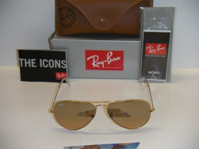 gold ray ban sunglasses  authentic  ray-ban