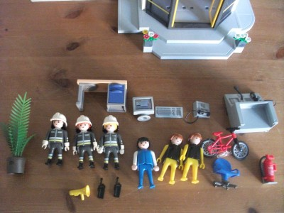 playmobil fire station instructions