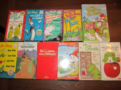 ***LOT OF 11 DR SEUSS SUESS CAT IN THE HAT and Others BOOKS BOARD TODDLER BABY
