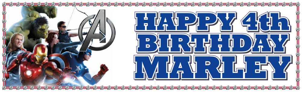2 X Personalised Avengers Birthday Banner 3ft 36 Quot X 11