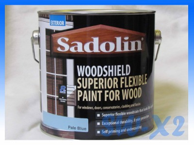 sadolin woodshield 2 5l pale blue exterior paint superior flexible wood stain ebay