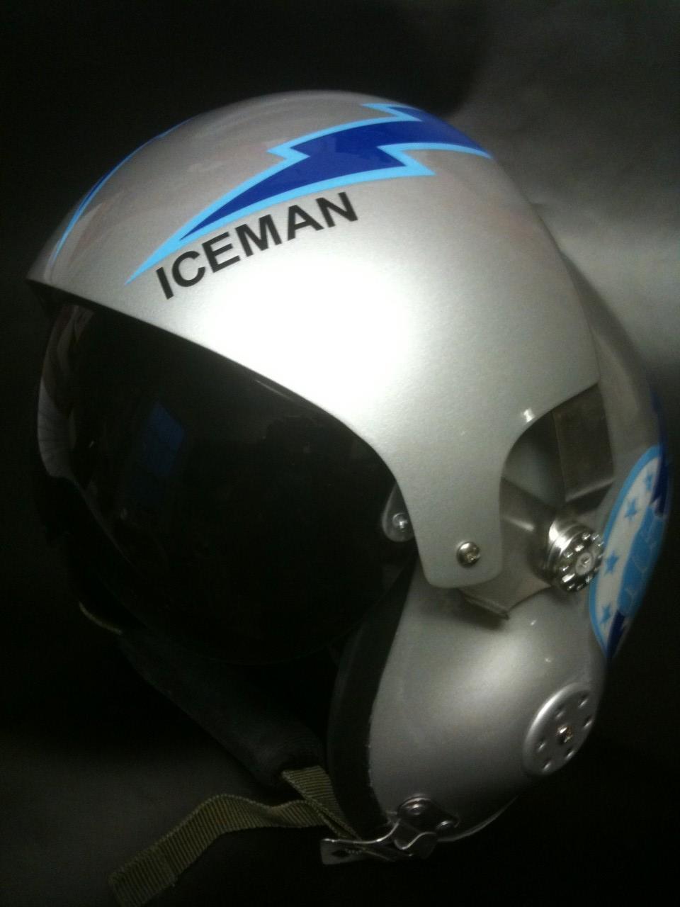 TOP GUN ICEMAN FLIGHT HELMET MOVIE PROP FIGHTER PILOT ...