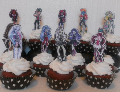 Monster High Cake Decorating Kit : Monster High Cupcake Cake Toppers one dozen Birthday Party ...