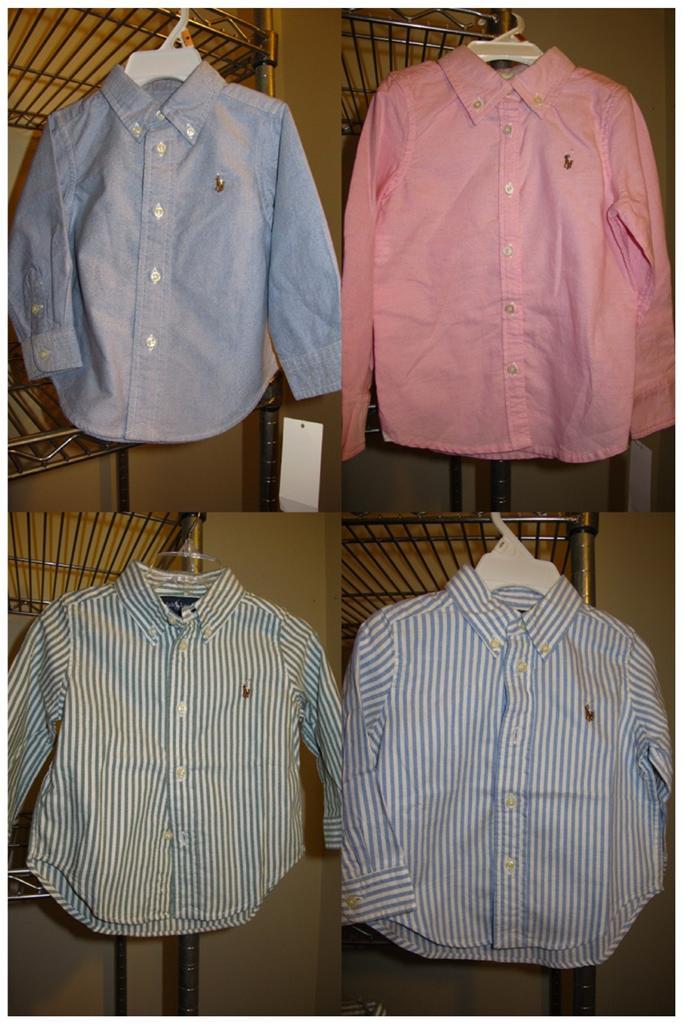 Ralph lauren polo infant boy blake oxford dress shirt blue for Baby pink polo shirt