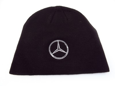 mercedes benz black beanie ski hat cap toque new look