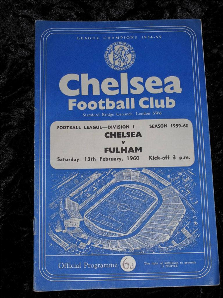 VINTAGE-FOOTBALL-PROGRAMME-Chelsea-Homes-Division-1-1959-60-Buy-Individually