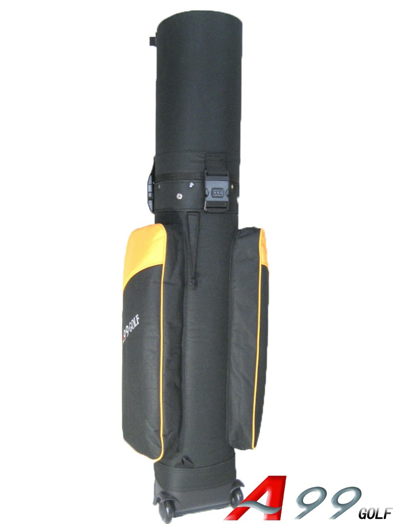Golf Travel Mate Golf Cart Bag Hard Case Gold Black
